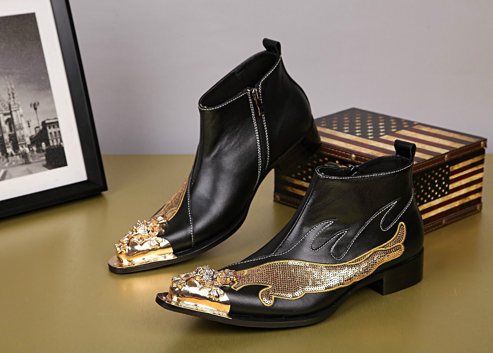 Online Get Cheap Square Toe Cowboy Boots Mens -Aliexpress.com