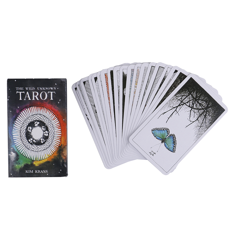 78pcs The Wild Unknown Animal Totem Deck Tarot  Cards  Rider-Waite Oracle Set Fortune Telling Divination Astrology Cards