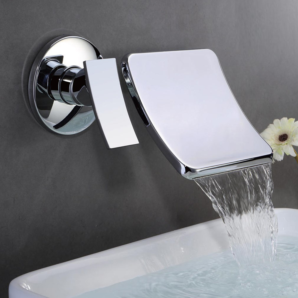 Wall - entry waterfall faucet 4 interface cold and hot mixed faucet  304 stainless steel washbasin faucet wx5251455Wall - entry waterfall faucet 4 interface cold and hot mixed faucet  304 stainless steel washbasin faucet wx5251455