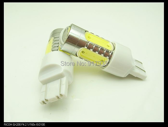4 x <font><b>T20</b></font> 7443 WY21W <font><b>LED</b></font> 7.5W High Power Lamp car Fog Head Bulb auto Vehicles parking Turn Signal Reverse Tail <font><b>DRL</b></font> Lights White image