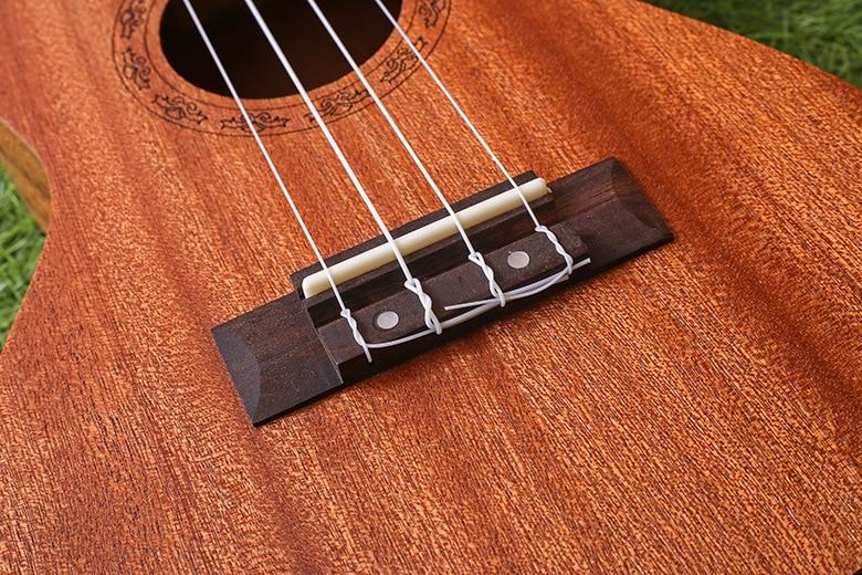 """21-7 21 \""""Ukulele Caoba guitarra Acústica Rosewood Fretboard guitarra 4-cuerdas instrumentos musicales Al Por Mayor"""