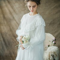 Vintage Nightgown Women Sleepwear Princess Queen Dress Nightgown