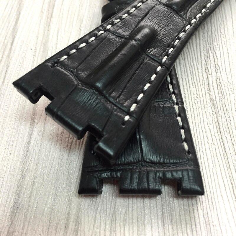Image 5 - MERJUST качество Натуральная кожа ремешок для часов 28 мм коричневый синий серый черный Браслет замена кожаный ремешок для часов для мужчин для AP-in Ремешки для часов from Ручные часы on AliExpress - 11.11_Double 11_Singles' Day