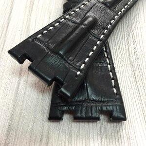 Image 5 - MERJUST 품질 정품 가죽 손목 시계 28mm 브라운 블루 그레이 블랙 팔찌 교체 가죽 시계 스트랩 AP 남성용