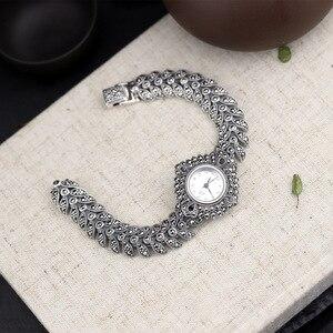 Image 3 - ใหม่ Elegant ธุรกิจ 925 เงินสเตอร์ลิงสตรีฤดูใบไม้ร่วงสร้อยข้อมือนาฬิกา