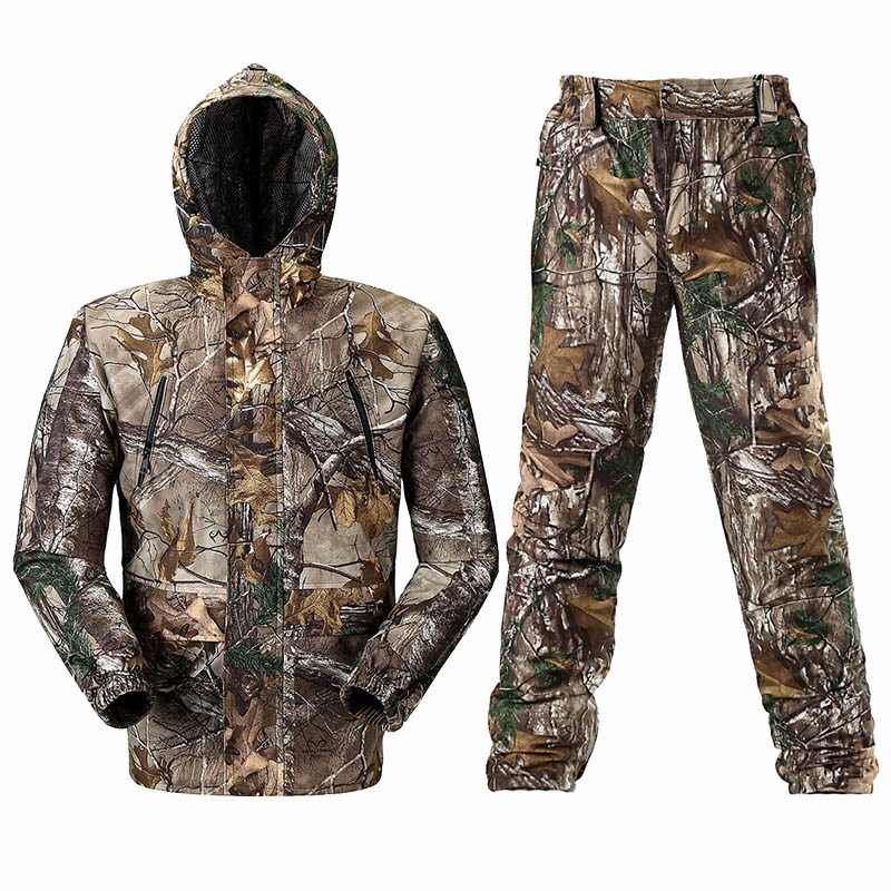 90b58aba19a81 Breathable Bionic Camouflage Hunting Clothing Hunting Ghillie Suit  Camouflage Hunting Jacket Pants Hunting Suit Hunter Uniform