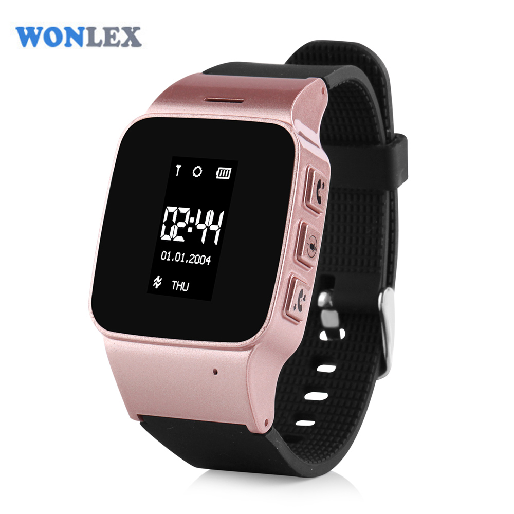Wonlex EW100 0.96 Inches Popular Elderly/Adults Kids Watch Phone SOS LBS/WIFI Positioning Location GPS Tracker Watch for Unisex