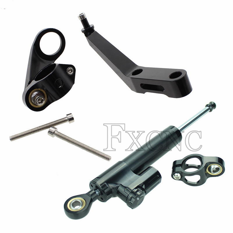 Fealay Motorcycle CNC Steering Damper Mounting Bracket Stabilizer for Honda CBR650F