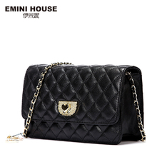 EMINI HOUSE Diamond Lattice Sheepskin Chain Bag Women Shoulder Bags Crossbody Bags For Women Genuine Leather Messenger Mini Bag