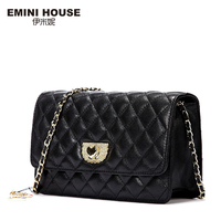 EMINI HOUSE Diamond Lattice Sheepskin Chain Bag Women Shoulder Bags Crossbody Bags For Women Genuine Leather