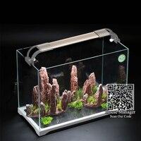 Изогнутый Кронштейн регулируемый светодио дный светодиодный аквариумный свет растительное освещение, яркая Красивая ультратонкая аквари...