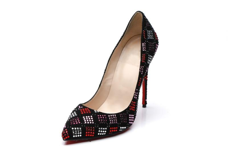 Peu Nouvelle Chaussures Profonde Mélangée Cristal As Damier Sandales Sexy Talons Haute Femme Mince Stiletto Couleur Mode Show Pompes De Soirée v1aZaOn