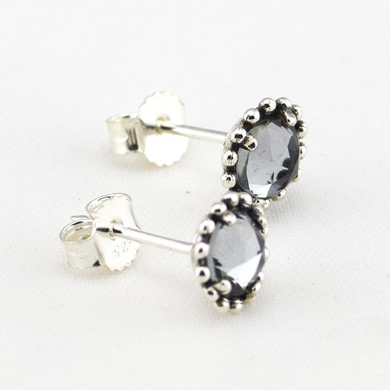 Wholesale-925-Sterling-Silver-Earring-Jewelry-Midnight-Blue-Silver-Earrings-For-Women-Free-Shipping