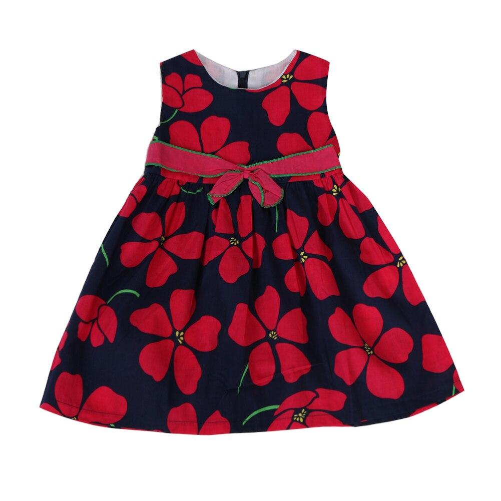 Baby Kids girls dress Sleeveless Flower Dress Bowknot A Line Princess Spring Summer Full Dress girls clothes