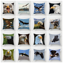 Fuwatacchi Ocean Birds Cushion Cover Bald Eagle Pillow for Car Home Living Room Decorative Pillowcase Office Decoration