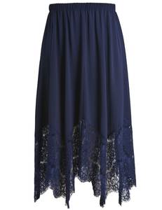 84370d4afc1 2018 Chicwe Women s Plus Size Long Lace Skirt with