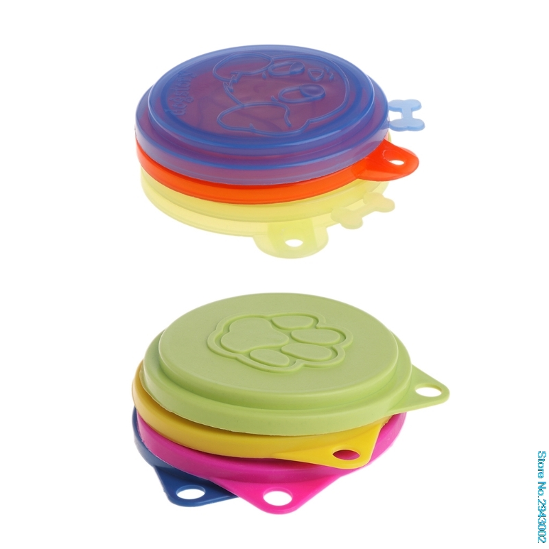 New New Pet Food Can Cover Silicone Storage Cap Dog Cat Reusable Fresh Lid Pets Supplies Mar Retail/Wholesale