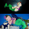 2016 New Crochet Mermaid Tail BABY Girl Photo Props Baby Mermaid Photography Props Baby Girls Halloween Costume MZS-15072