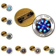 Iron Man Tony Stark Arc Reactor Print Brooch Badge Marvel The Avengers 4 Endgame Quantum Realm Chest Pin Fans Collection