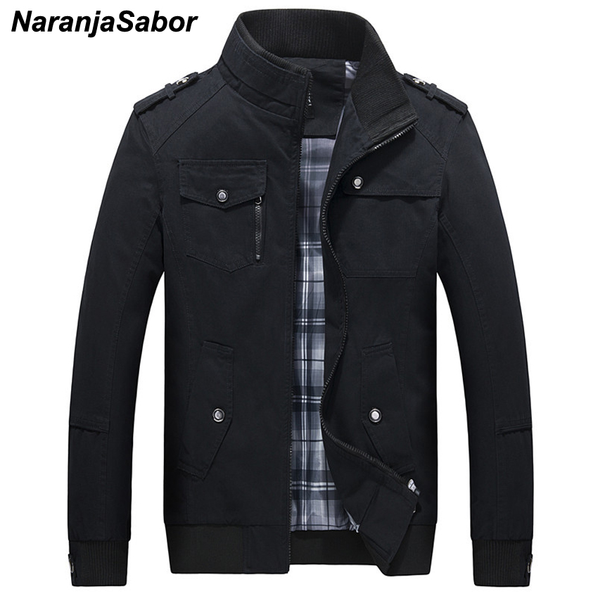 NaranjaSabor Mens Brand Clothing 2018 Spring Autumn Men's Casual Jackets Army Green Men Coats Male Windbreaker Coat Outwear 5XL
