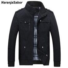 NaranjaSabor для мужчин s брендовая одежда 2018 демисезонный Мужчин's повседневные куртки армейский зеленый мужчин пальто для будущих мам мужс