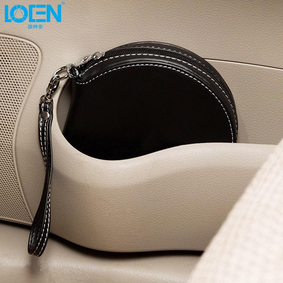 Alta calidad 1 UNID PU cuero impermeable 20 Disco con cremallera CD - Accesorios de interior de coche - foto 5