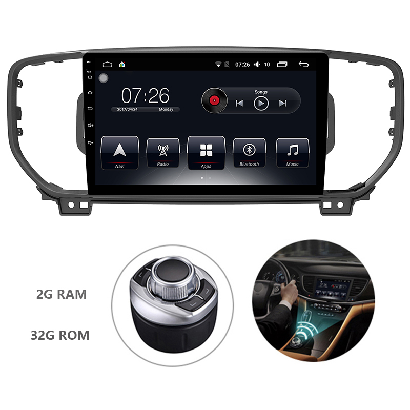 10.1 One Din Android 7.1 OS Special Car DVD Multimedia Player for Kia KX5 2016 2018 (China) with 2GB RAM 32GB ROM