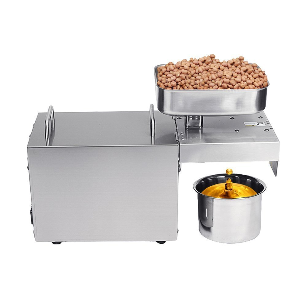 Brand New 110V Or 220V Hot and Cold Home Oil Press Machine Coconut, Peanut, Soybean Oil Press Machine High Oil Extraction Rate automatic small peanut oil press machine oil soybean presser 220v 200w stainless steel brand new for home use