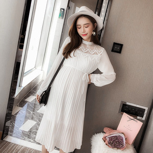 Image 3 - New Fashion Maternity Dresses Spring Autumn Long Pregnancy Dresses For Pregnant Women Dress Casual Maternity Clothes Plus Size