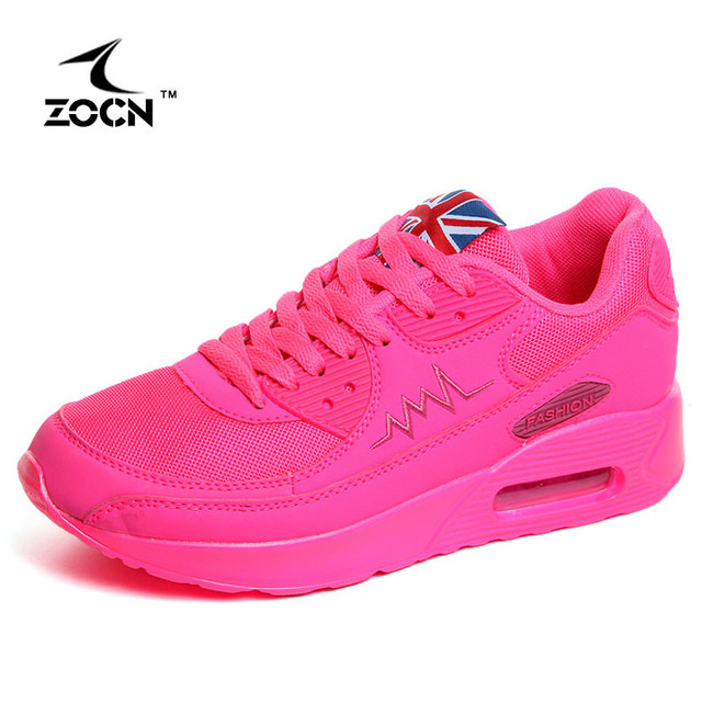 ZOCN Zapatos Mujer High Quality Fashion 2016 Autumn Women Casual Shoes Woman Walking Fashion Breathable Air Cushion Shoes 35-40