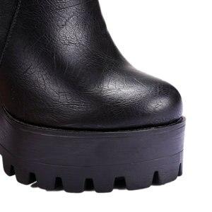Image 4 - 2019 Phụ Nữ Cao Cấp Gót Giày Đầm Giày Người Phụ Nữ Nền Tảng Thu Xuân Mắt Cá Chân Giày Người Phụ Nữ Size Lớn 41 42