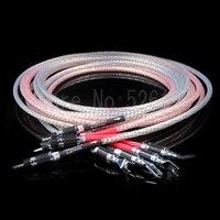 Бесплатная доставка 3 м/пара Nordost Valhalla аудио кабель колонки hifi кабель громкоговорителя с углеродного волокна Y spade разъем
