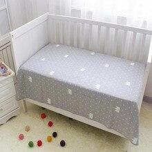 Простыня для детской кроватки s воздухопроницаемая детская простынь на резинке для новорожденных кроватки из чистого хлопка с принтом простыня для детской кроватки для мальчиков и девочек
