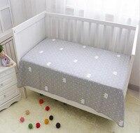 Culla lenzuola lettino traspirante montato lenzuola culla neonato puro stampato biancheria da letto del bambino del cotone letto lenzuola ragazza ragazzo