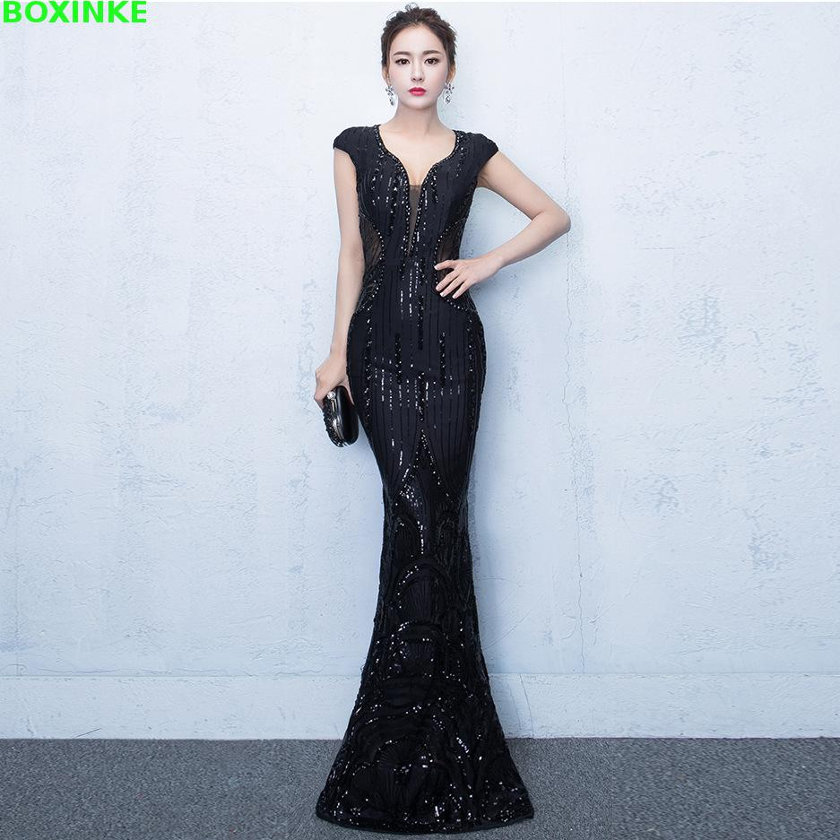 2019 Mesh Lanon Solid Dress Plus Size Vestidos De Fiesta The New Banquet Host Host Of