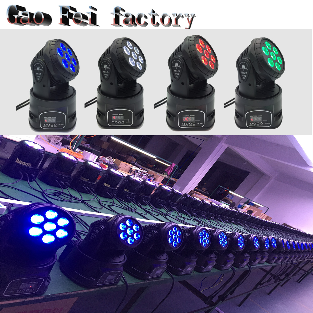 4pcs 7*12W RGBW 4 IN1 mini wash Led Moving Head Light /DMX Wash Effect Lighting/14CH 3 Pin XLR DMX512 Socket dj disco light/LED trending hot products 7pcs 10w 4 in 1 rgbw led wash mini moving head dj light dmx512 holiday lighting for club disco decorations