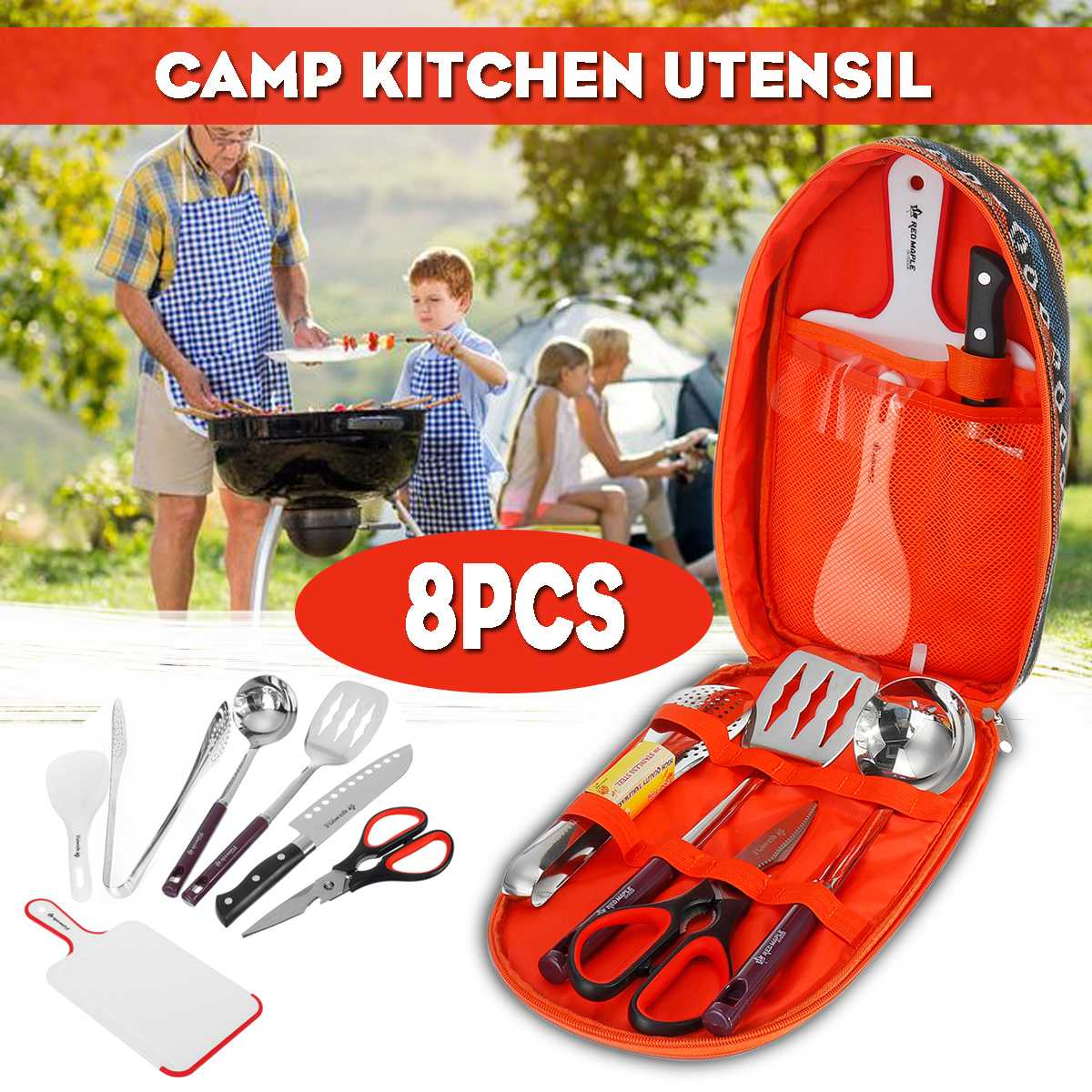 Details about  /Camping 8 in 1 Utensil--2 for $8.00