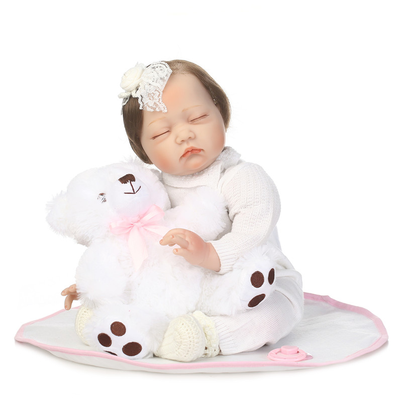 doll bebe reborn girl soft body menina de silicone menina 55cm reborn babies dolls  brinquedos toys baby born children gift pretty alice girl doll reborn 40cm soft cloth body silicone newborn dolls best children gift dolls bebe bonecas menina
