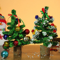 Christmas Decorations Christmas Tree Ornaments Navidad Mini Small Package Desktop Window Decoration Mall Counters