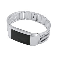 Fitbit Charge 2 Replacement Band Breathe Freely Easy To Lock And Open Metal Band Smart Bracelet