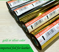 Import L183 Electrochemical Aluminum Gold Silver Leather Leatherette Paper Hot Stamping Paper