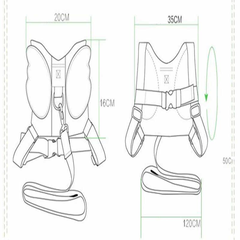 Анти-потеря поводок Рюкзак для детей Ангел Дизайн малыша ходьба помощник ремень Rein Детская безопасность Дети Хранитель 4 цвета
