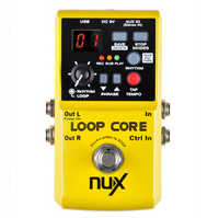 NUX Loop Core Guitar Effect Pedal 40 built-in drum patterns and 99 user memories 6 Hours recording time True Bypass Overdub