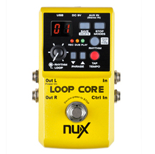 NUX Loop Core Guitar Effect Pedal 40 built-in drum patterns and 99 user memories 6 Hours recording time True Bypass Overdub стоимость