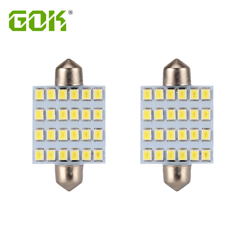 100pcs lot festoon led 24smd 2835 led c5w 31MM 36MM 39MM 42MM led dome light Interior