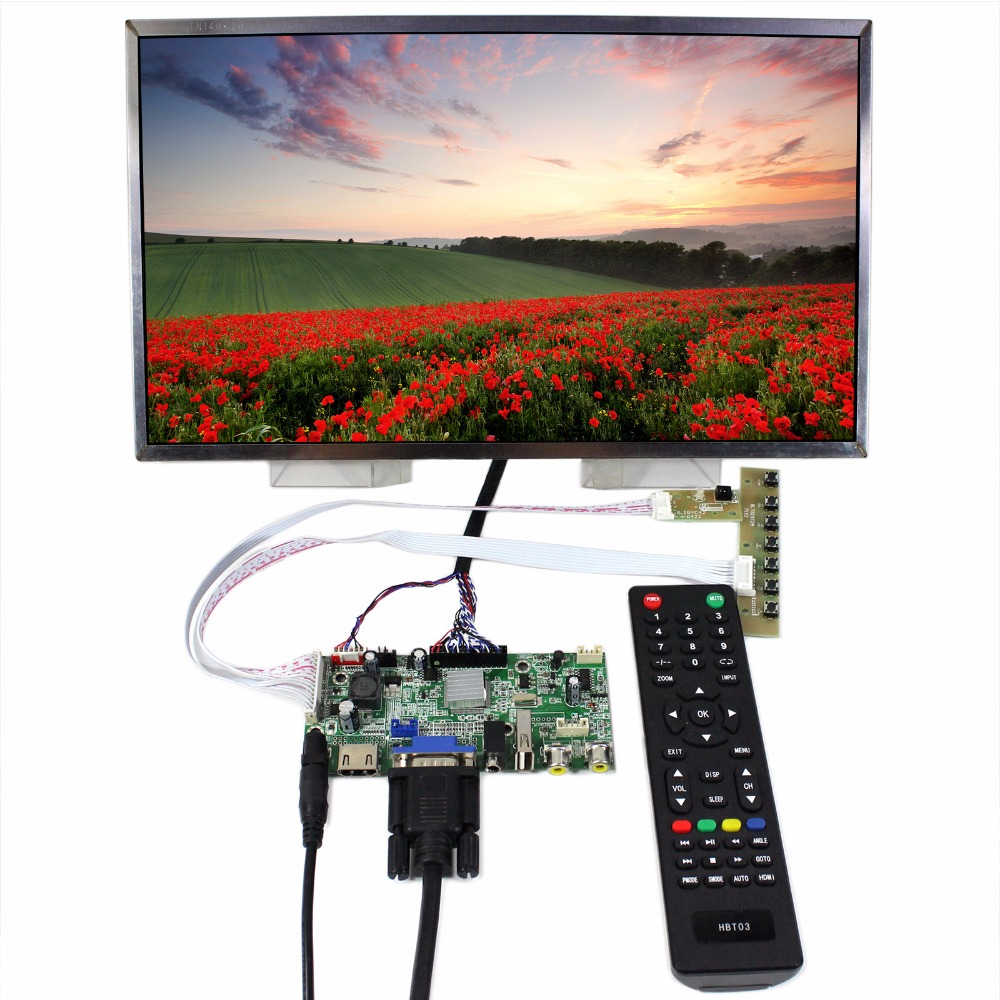 HDMI VGA AV Audio USB LCD Controller Board+14inch LTN140KT01 1600x900 LCD Screen hdmi vga av audio usb fpv control board 14inch ltn140at26 lp140wh1 1366 768 lcd screen model lcd for raspberry pi