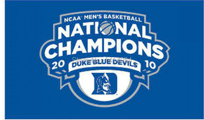 Duke NCAA Basketball Champs Flag 150X90CM NCAA 3X5FT Banner 100D Polyester grommets custom009, free shipping