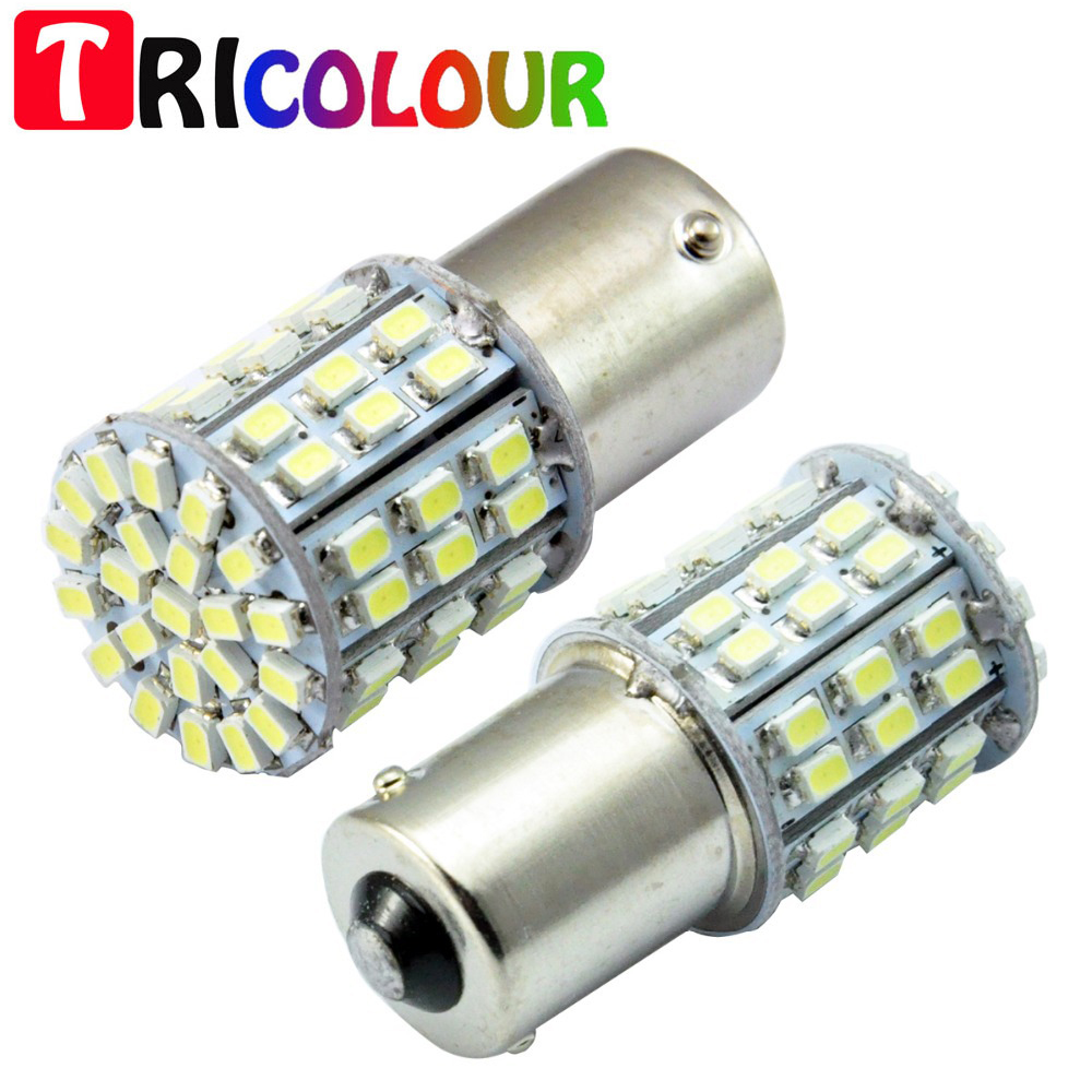 TRICOLOUR S25 1156 BA15S 1206 64 SMD Turning Light Auto 64 Leds Backup Lamps Parking Light Automotive Led Car Light Sourse #TF60 чайные принадлежности tang feng tf 1206 tf 1206