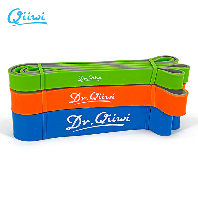 Dr.Qiiwi 210cm Rubber Elastic Resistance Bands Set Yoga Exercise Bands Loop for Training Fitness Gum Equipment Body Stretch 2