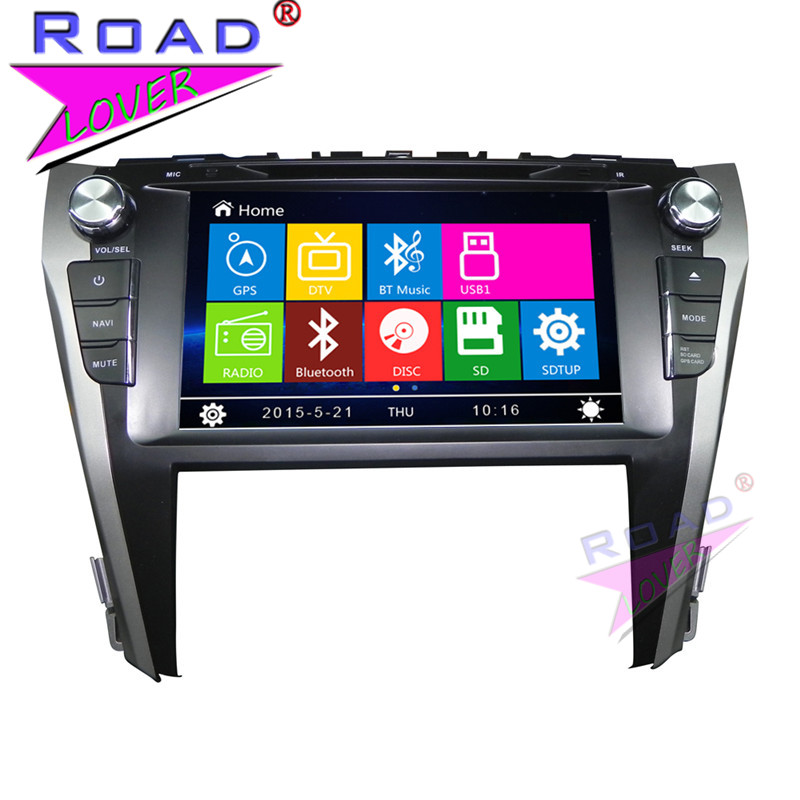 TOPNAVI Wince 6.0 9 Two Din Car Media Center DVD Auto Player Audio For Toyota Camry 2015- Stereo GPS Navigation TFT Touch USB